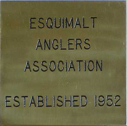 Esquimalt Anglers Association Wall Plaque